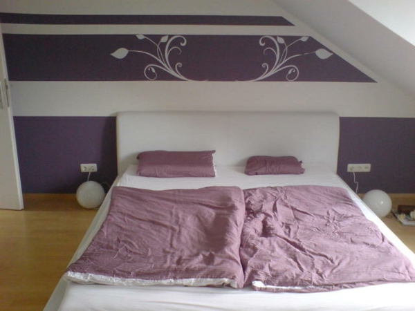 Schlafzimmer wandfarbe muster