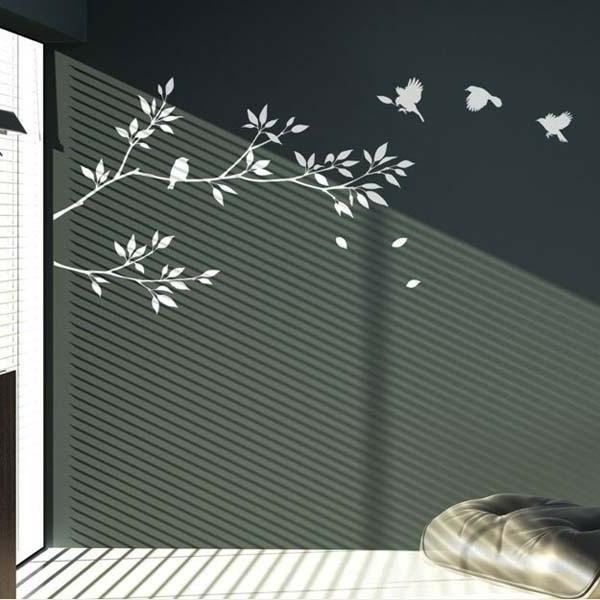 wandtatoos-selbst-gestalten-weiße-dekoration - deko für wände