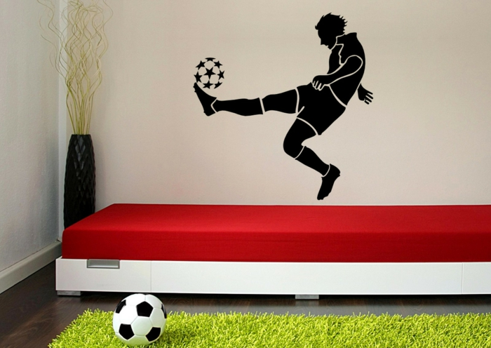 120 super originelle ideen f rs jungenzimmer - Fussball kinderzimmer ...