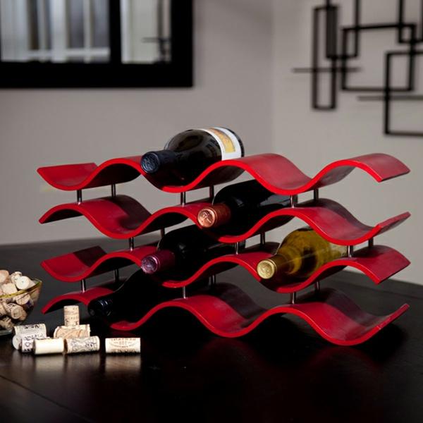weinregal-selber-bauen-rote-farbe- elegante form