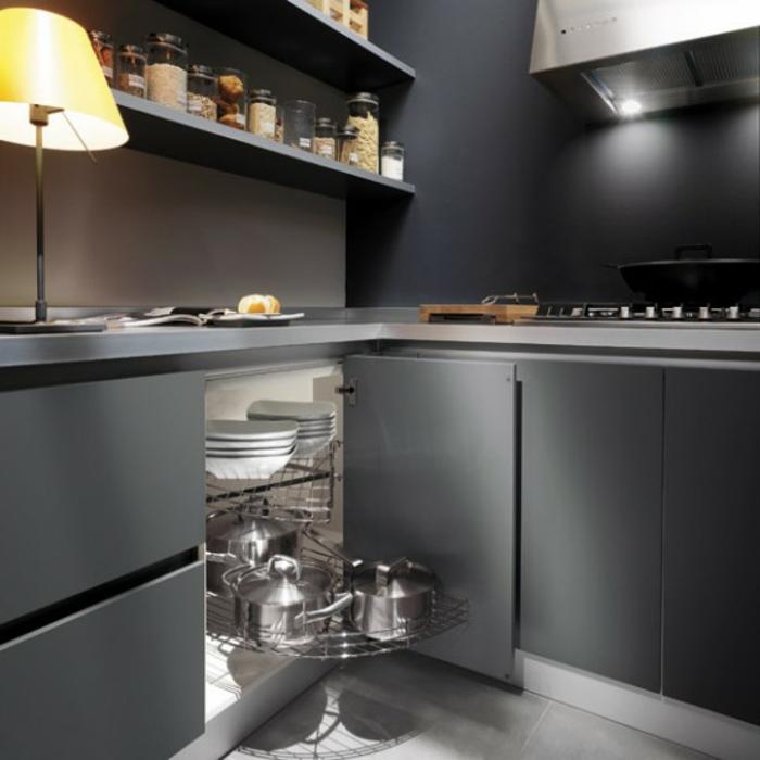 wohnbeispiele-küche-und-küche-graue-wandfarbe