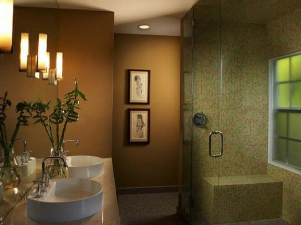 wohnideen-badezimmer-dekoration - duschkabine mit mosaikfliesen