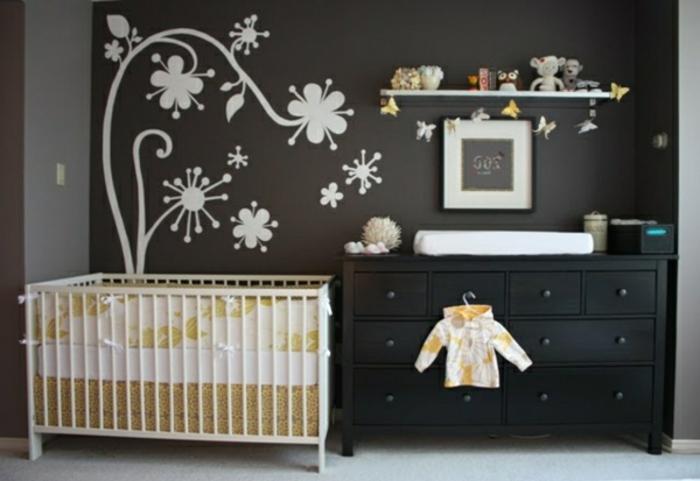 wohnideen-farben-fürs-babyzimmer-grau