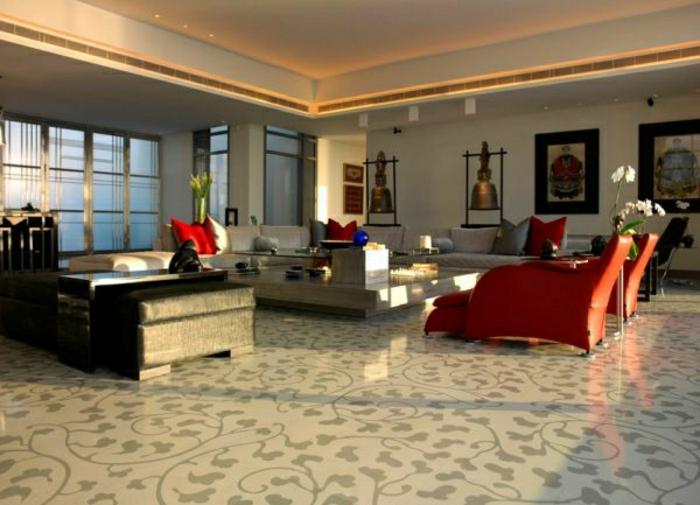 wohnzimmer-modern-gestalten-graue-farbe