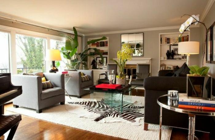 wohnzimmer-wandfarbe-moderne-gestaltung-grau-und-schön
