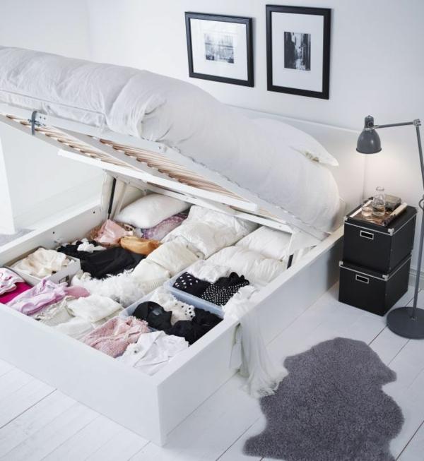 aufbewahrungsideen f r das schlafzimmer vorschl ge wie. Black Bedroom Furniture Sets. Home Design Ideas