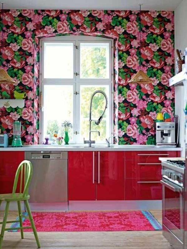 Küchentapeten-Beispiele-floral