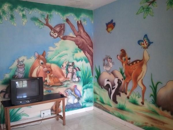 Kinderzimmer Wandgestaltung Disney : Kinderzimmerwände gestalten – Machen Sie es zauberisch!
