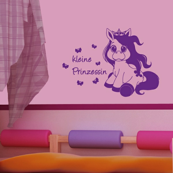 Mädchen-Accessoires-Pony-Pferd-Wandtattoo