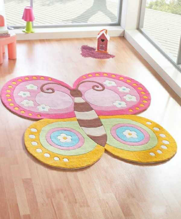 Mädchen-Accessoires-Schmetterling-Kinderteppich