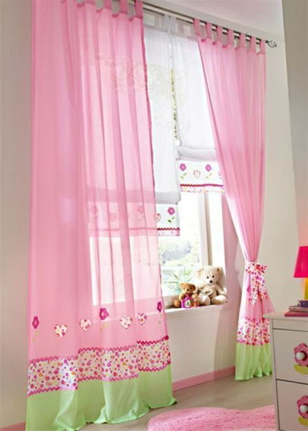 gardinen kinderzimmer rosa interieurs inspiration. Black Bedroom Furniture Sets. Home Design Ideas