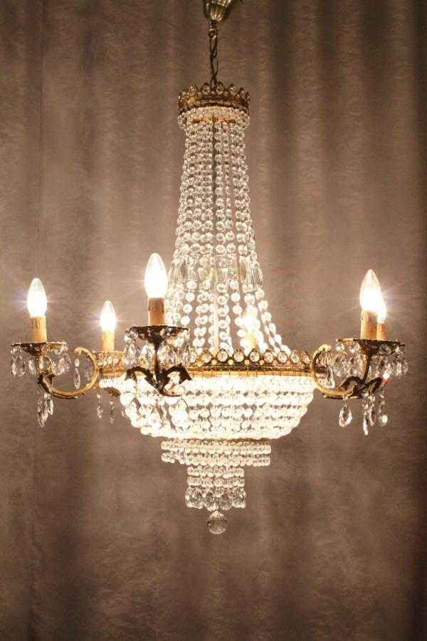 aristokratisch-aussehender-kristallleuchter-super ausstattung