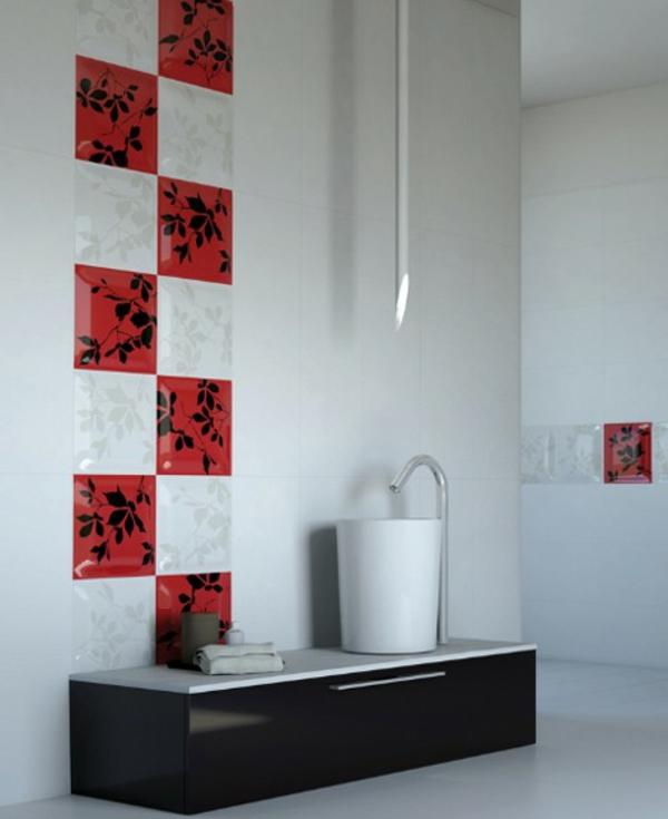 asiatische-fliesen-fürs-bad- rote und weiße farbe zusammenbringen