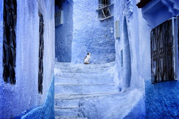 auffällige-gestaltung-alte-stadt-in-morocco-blaue-farbe