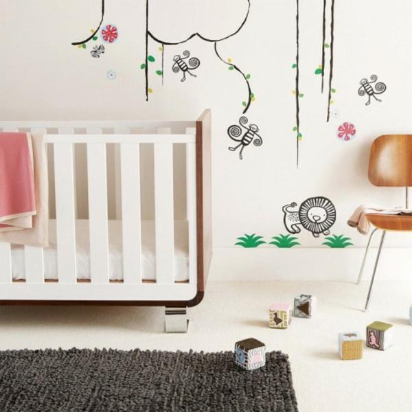 babyzimmer-dekorieren-wunderschön-dunkler teppich