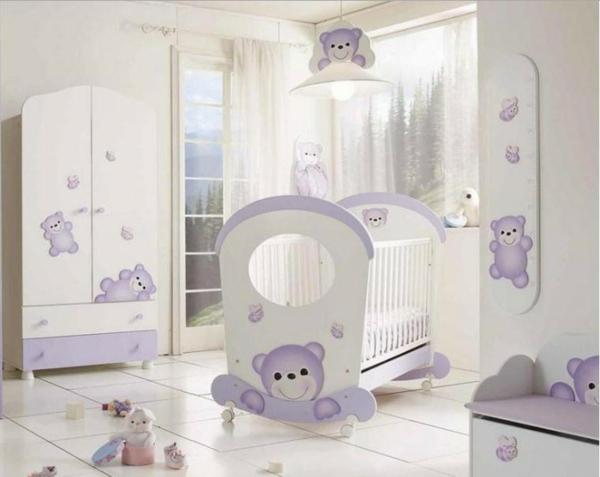 babyzimmer-ideen-weiße-gestaltung-teddybären