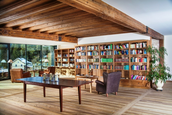 Ideen bibliothek zu hause gestalten m belideen for Einrichtungsideen lesezimmer