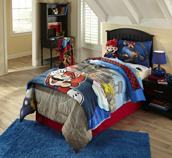 bettwäsche-mit-kindermotiv-für-jungen-sehr-schön-blaue und rote farbe