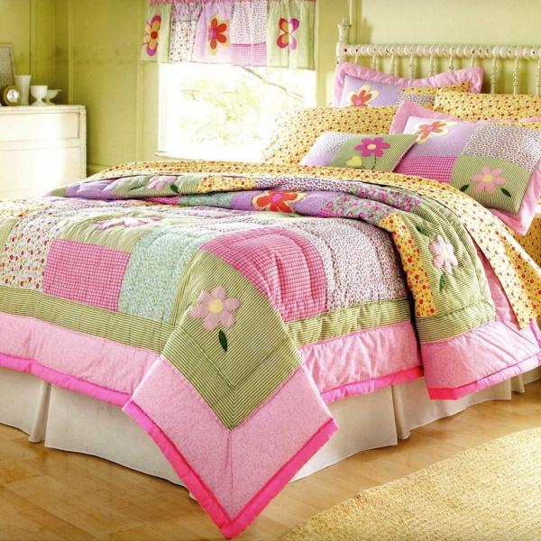 bettwäsche-mit-kindermotiv-für-mädchen-rosige farbe