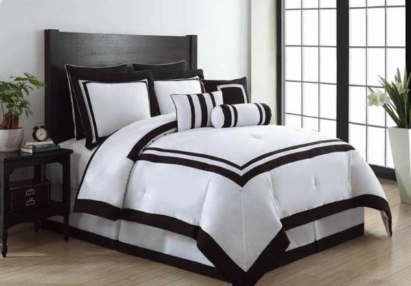 Bettwäsche in schwarz und weiß - 45 Ideen! - Archzine.net