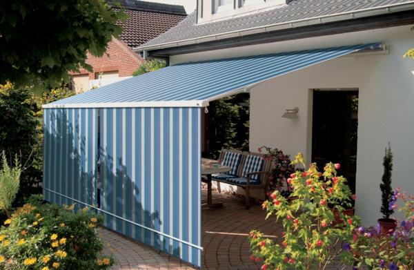 blaue-farbe-für-sonnensegel-für-terrasse-wunderschön wirkend