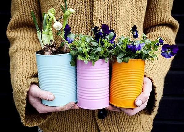 blumentöpfe bepflanzen - super geschenk für mutti