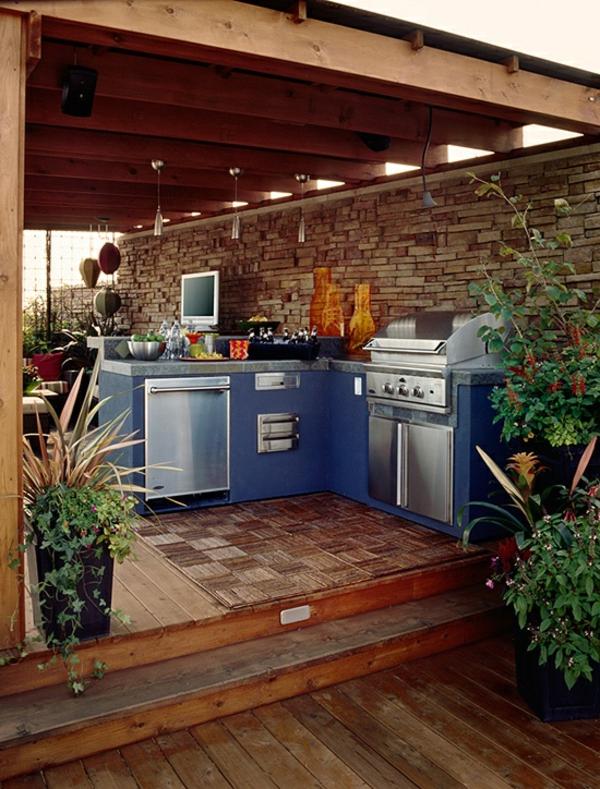 coole-outdoor-küche-Sehr schön wirkend