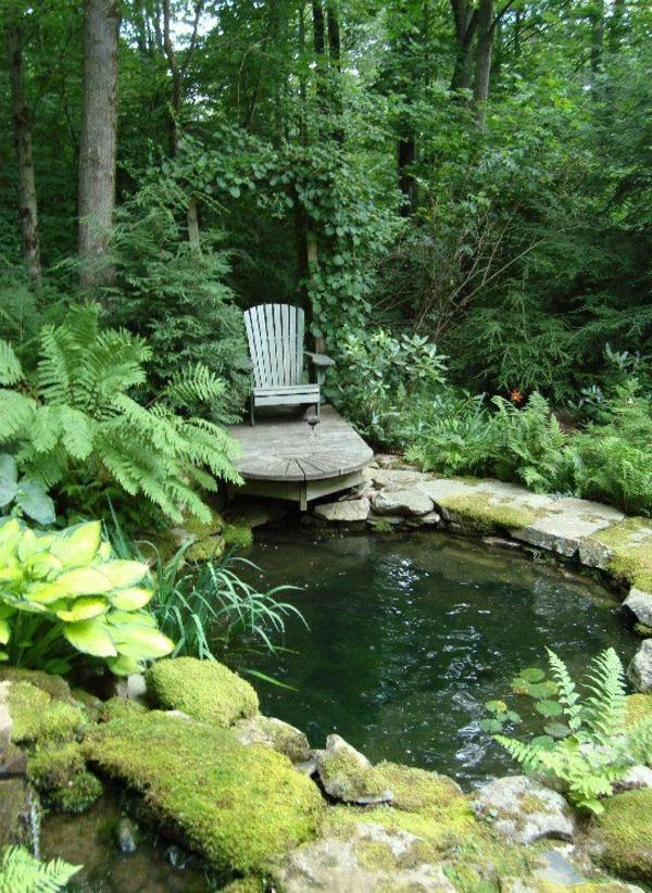 cooler gartenteich gestalten - Gartenteich Ideen