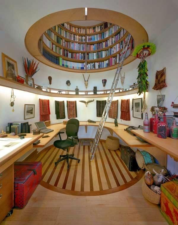 decke-kugel- Haus – Bibliothek