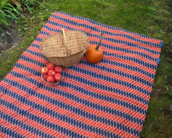 den-picknick-koffer-packen-und-eine-schöne-decke-mitnehmen-auf dem gras