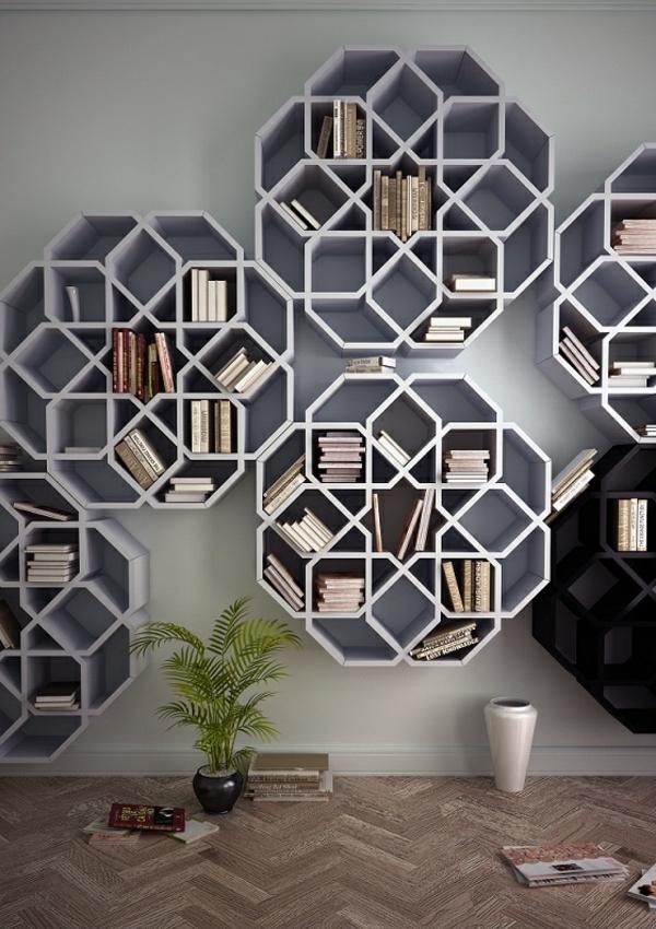 50 originelle b cherregale f r ihre wohnung. Black Bedroom Furniture Sets. Home Design Ideas