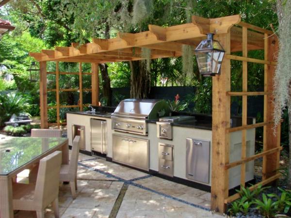 designer-outdoor-küche-Sehr schön wirkend