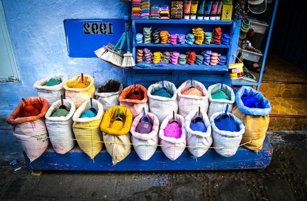 eigenartige-ausstattung-alte-stadt-in-morocco-blaue-farbe