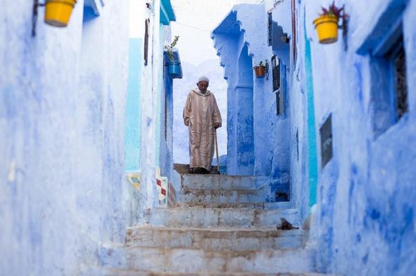 eigenartige-gestaltung-alte-stadt-in-morocco-blaue-farbe