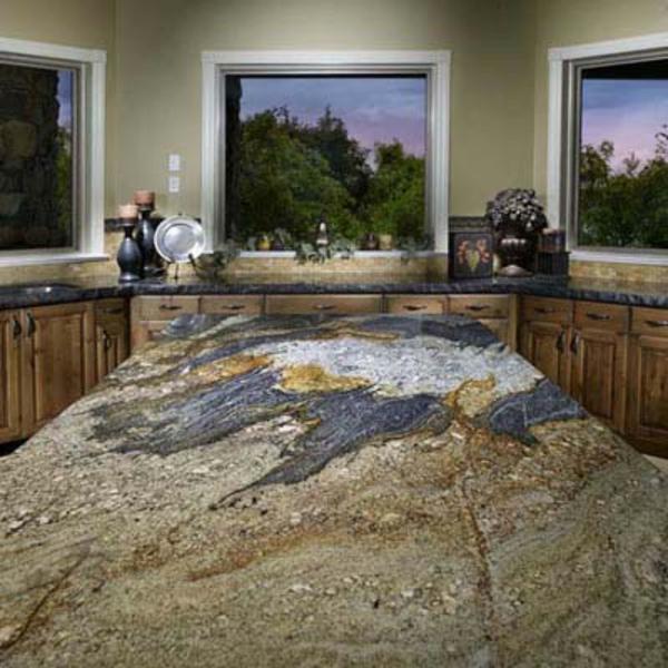 eigenartige-gestaltung-arbeitsplatte-aus-naturstein-für-die-küche-elegante ausstattung