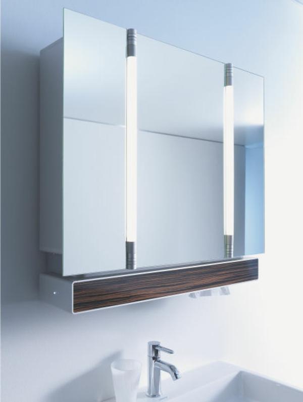 Badezimmer Spiegelschrank Holz Wei: Der moderne spiegelschrank ist mit ...