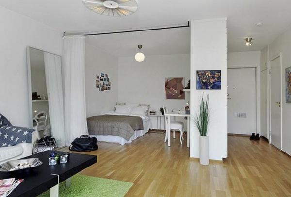 einraumwohnung einrichten funktionell und behaglich. Black Bedroom Furniture Sets. Home Design Ideas