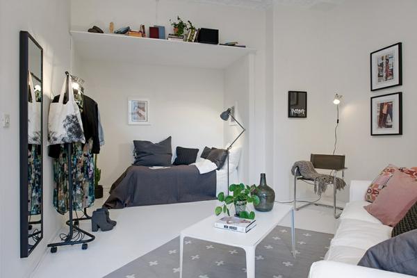 einraumwohnung einrichten swedisch projekt