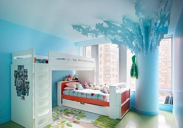 Moderne Wandgestaltung für Mädchenzimmer - Archzine.net
