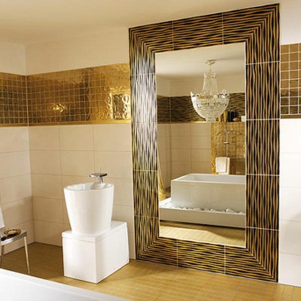 Italienische Fliesen Badezimmer : ... Fliesen in goldener Farbe für eine elegante Badezimmer Ausstattung