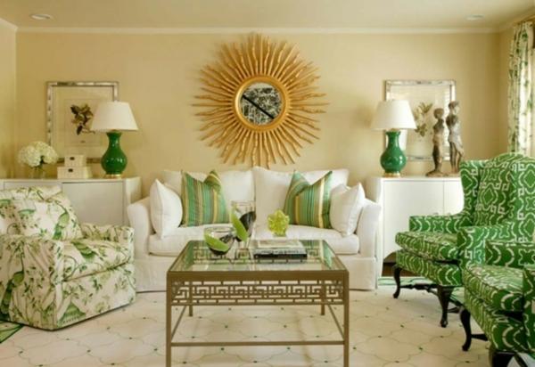 extravagante-einrichtungsideen-für-wohnzimmer-super spiegel -wie die sonne aussehen