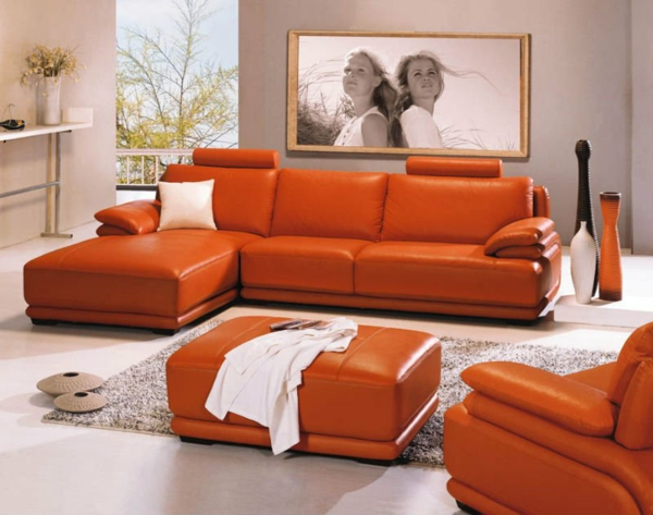 einrichten mit farben farbe orange der andere name f r. Black Bedroom Furniture Sets. Home Design Ideas