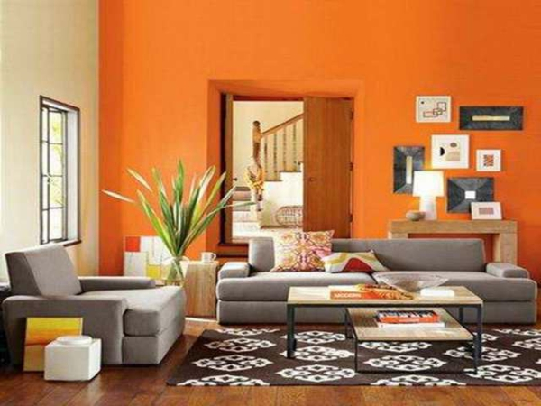 wohnzimmer deko : wohnzimmer deko orange ~ inspirierende bilder ...