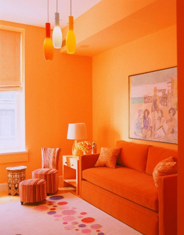 einrichten mit farben farbe orange der andere name f r trend. Black Bedroom Furniture Sets. Home Design Ideas