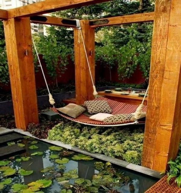 Gartenteich Bauen - 30 Frische Ideen Für Ihren Hinterhof ... Gartenteich Ideen Bilder
