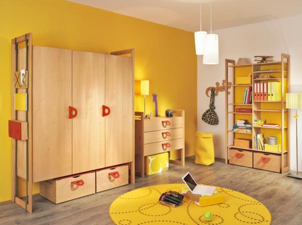 gelbe-farbgestaltung-im-kinderzimmer