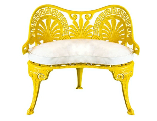 gelbe-farbtöne-Vintage-Gartenmöbel