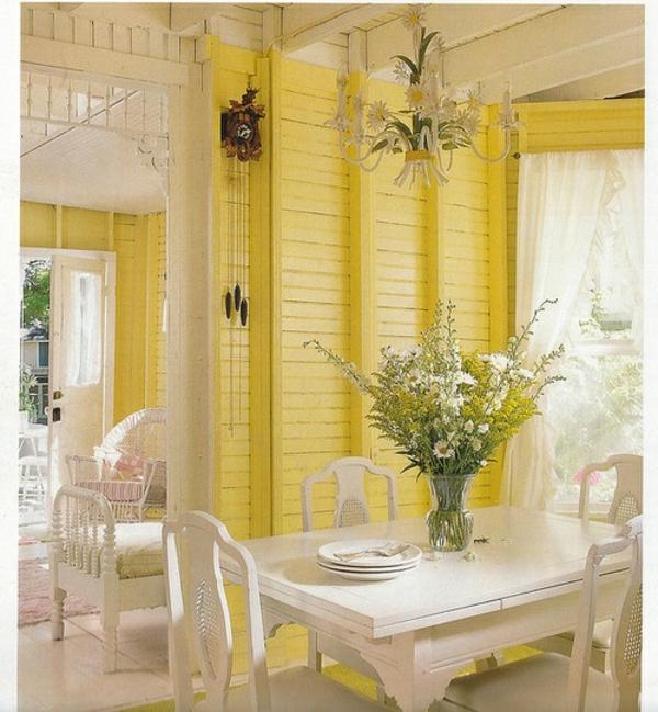 gelbe-farbtöne-esszimmer
