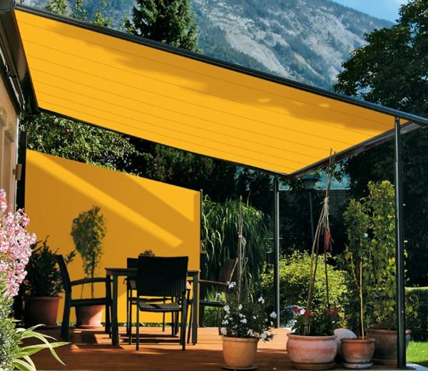 gelbes-sonnensegel-wunderschön wirkend
