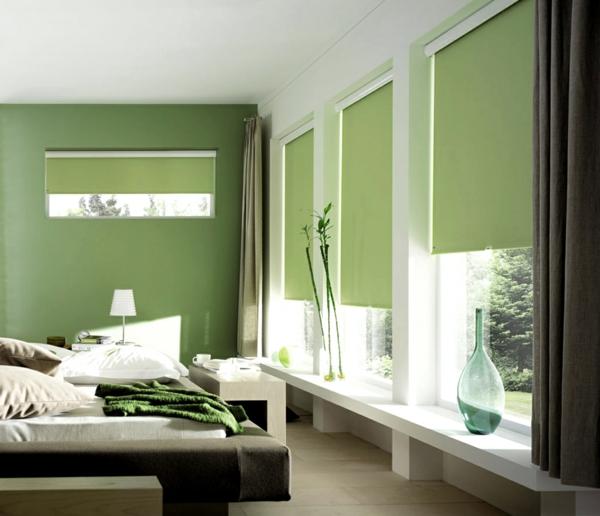 grünes-zimmer-moderne-jalosine-grüne gestaltung